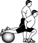 Stability Ball Exercises: Stationary Lunge