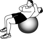 Exercise Ball Example: Stability Ball Crunch