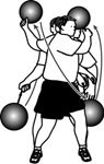 medicine ball figure eights