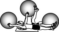 Stability Ball Exercises: Crunch, Reach, Pass