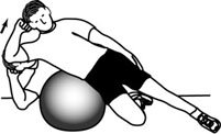 Stability Ball Exercises: Oblique Stability Ball Crunch